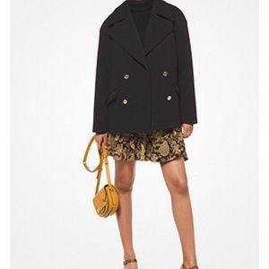 Michael Kors classic black Pea Coat